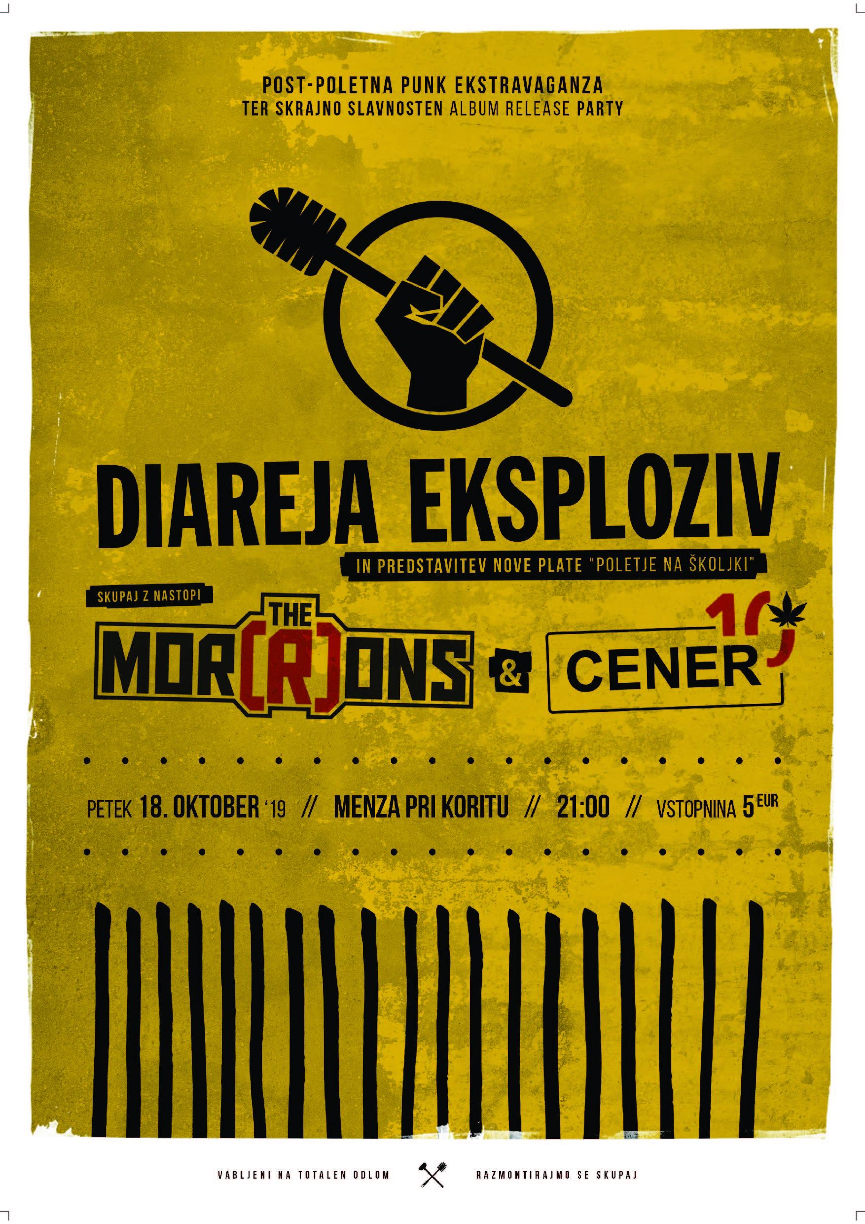 Diareja Eksploziv - Poletje na Å¡koljki + The Mor(R)ons + CENER
